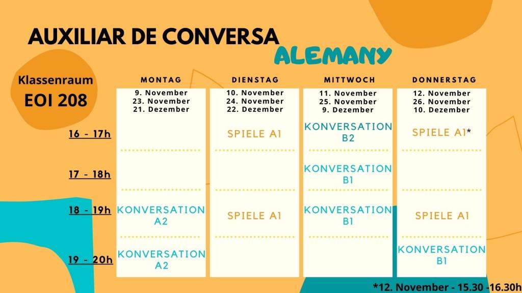 Auxiliar de conversa - Alemany