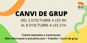 CANVI DE GRUP